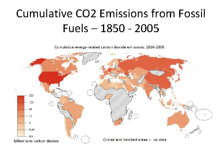 Cumulative CO 2 Emissions from Fossil Fuels – 1850 - 2005