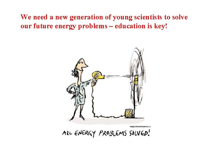 We need a new generation of young scientists to solve our future energy problems