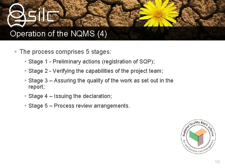 Operation of the NQMS (4) § The process comprises 5 stages: § Stage 1