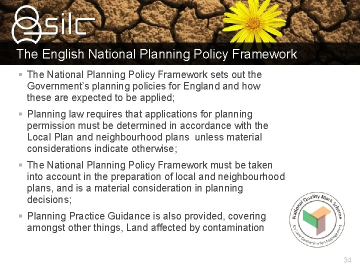 The English National Planning Policy Framework § The National Planning Policy Framework sets out