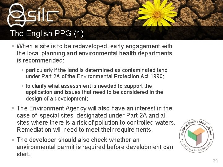 The English PPG (1) § When a site is to be redeveloped, early engagement