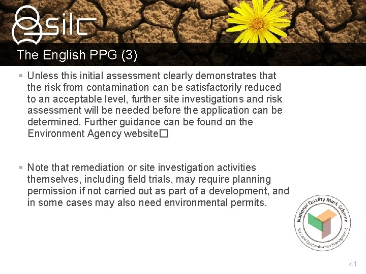 The English PPG (3) § Unless this initial assessment clearly demonstrates that the risk