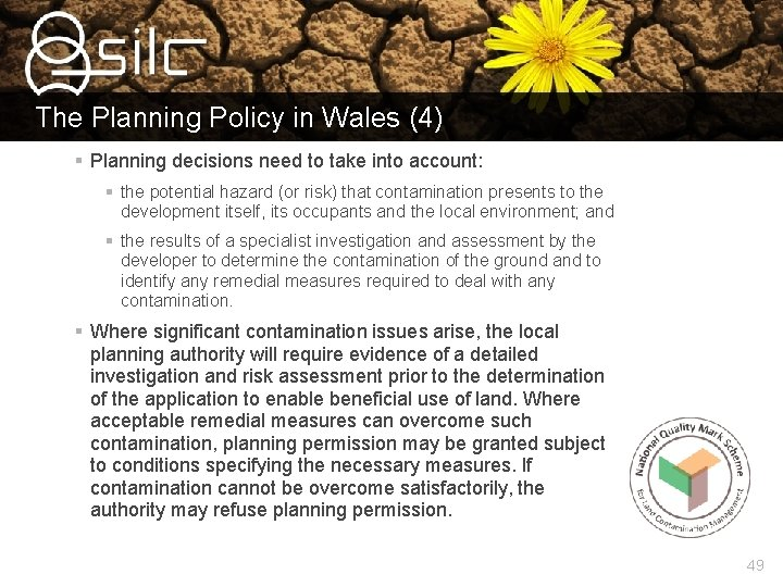 The Planning Policy in Wales (4) § Planning decisions need to take into account: