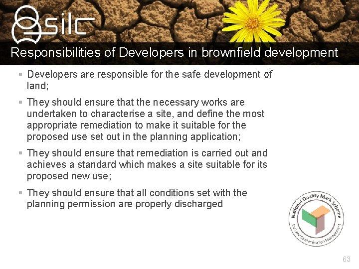 Responsibilities of Developers in brownfield development § Developers are responsible for the safe development