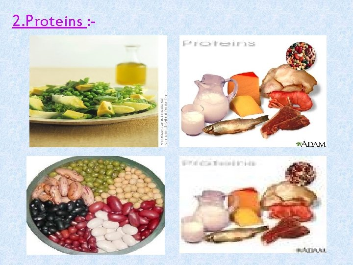 2. Proteins : -