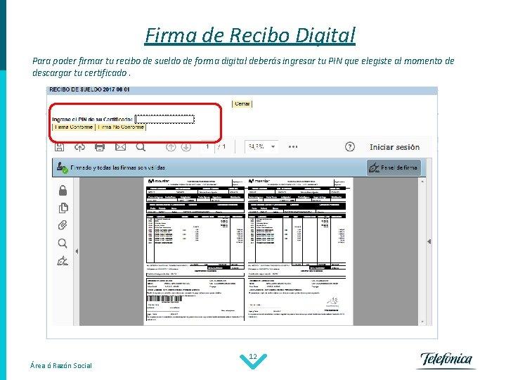 Firma de Recibo Digital Para poder firmar tu recibo de sueldo de forma digital