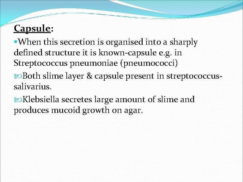 Capsule: §When this secretion is organised into a sharply defined structure it is known-capsule