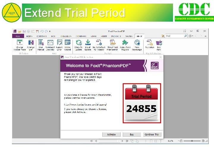 Extend Trial Period