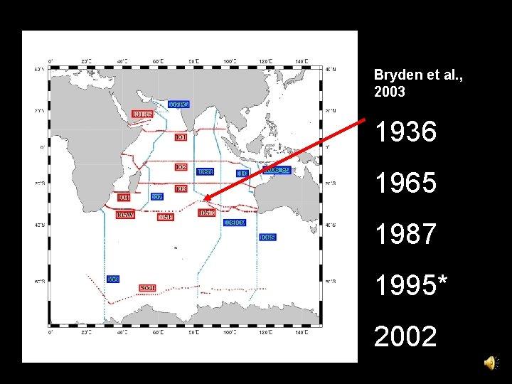 Bryden et al. , 2003 1936 1965 1987 1995* 2002