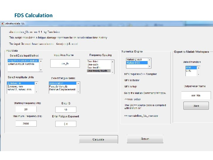 FDS Calculation