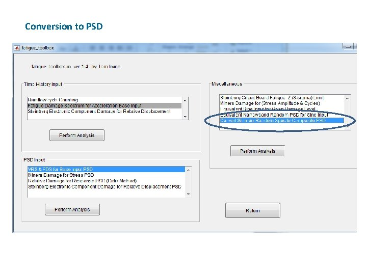 Conversion to PSD