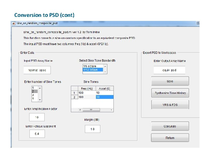 Conversion to PSD (cont)