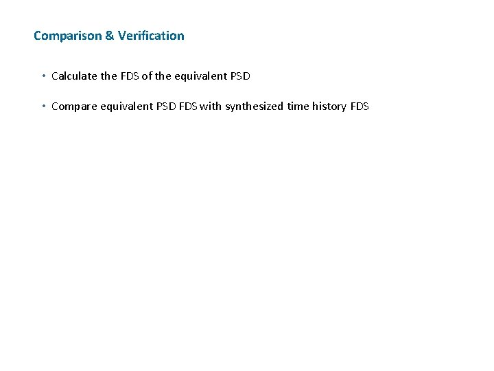 Comparison & Verification • Calculate the FDS of the equivalent PSD • Compare equivalent
