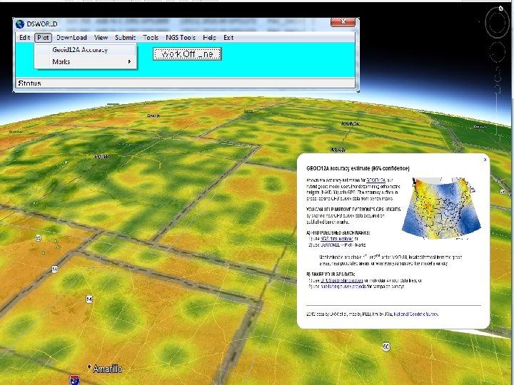 DSWorld displays GEOID 12 A accuracy estimates