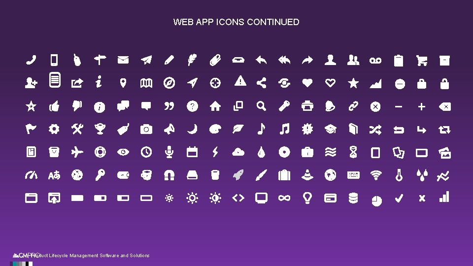 WEB APP ICONS CONTINUED | Product Lifecycle Management Software and Solutions