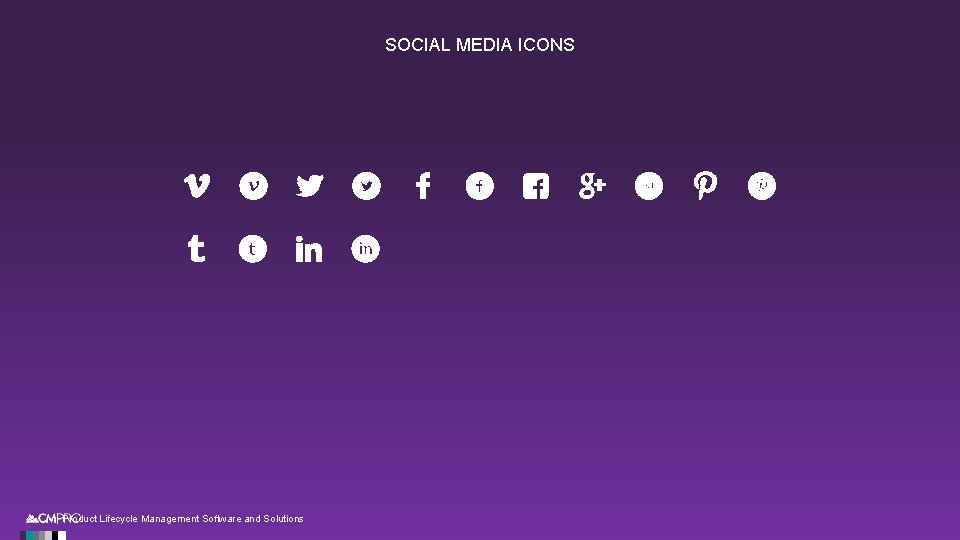 SOCIAL MEDIA ICONS | Product Lifecycle Management Software and Solutions