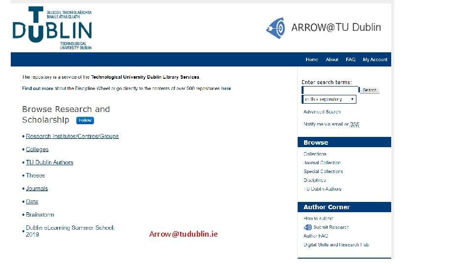 Arrow@tudublin. ie