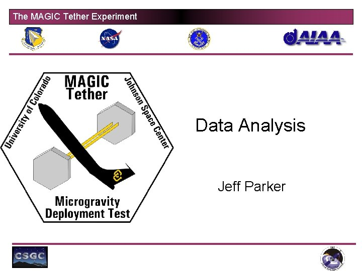 The MAGIC Tether Experiment Data Analysis Jeff Parker