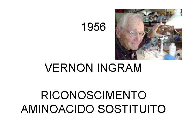 1956 VERNON INGRAM RICONOSCIMENTO AMINOACIDO SOSTITUITO