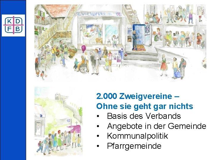 2. 000 Zweigvereine – Ohne sie geht gar nichts • Basis des Verbands •