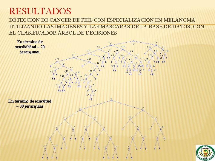 RESULTADOS DETECCIÓN DE CÁNCER DE PIEL CON ESPECIALIZACIÓN EN MELANOMA UTILIZANDO LAS IMÁGENES Y