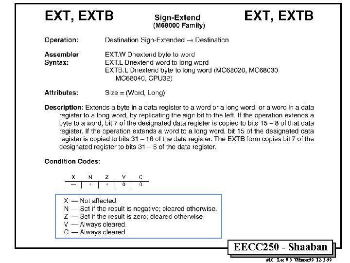 EECC 250 - Shaaban #10 Lec # 3 Winter 99 12 -2 -99