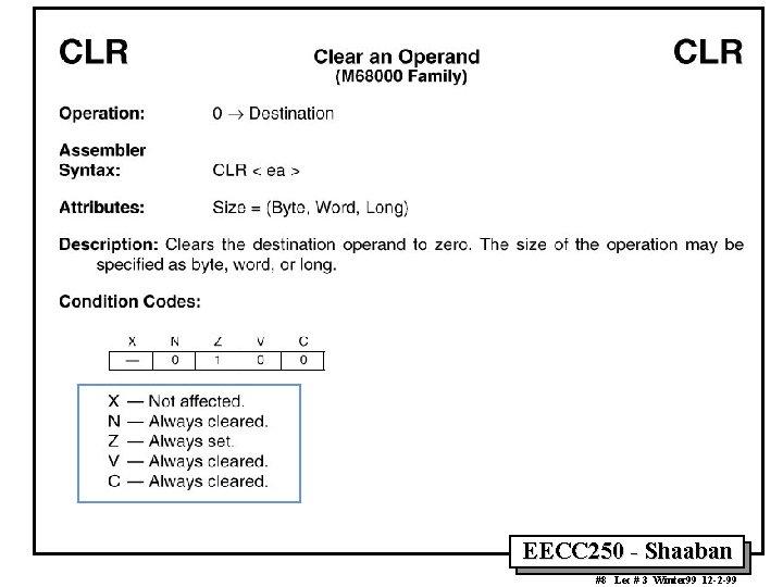 EECC 250 - Shaaban #8 Lec # 3 Winter 99 12 -2 -99