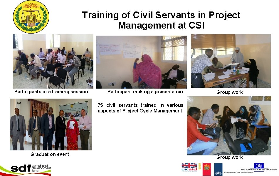Training of Civil Servants in Project Management at CSI Participants in a training session