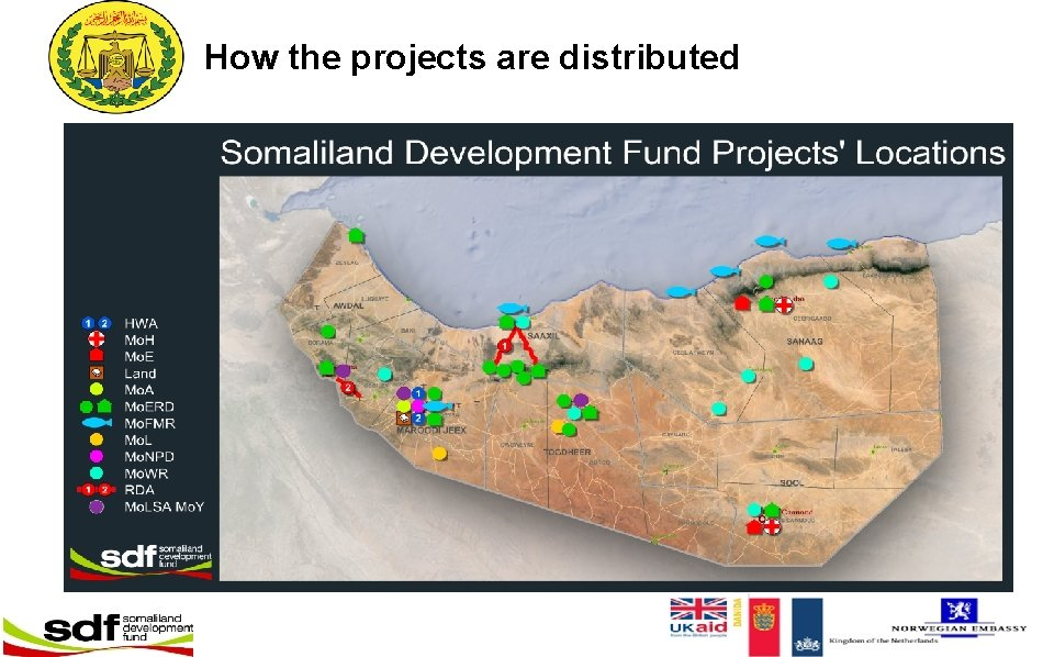 How the projects are distributed