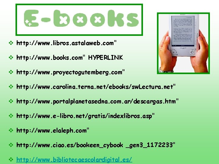 "v http: //www. libros. astalaweb. com"" v http: //www. books. com"" HYPERLINK v http:"