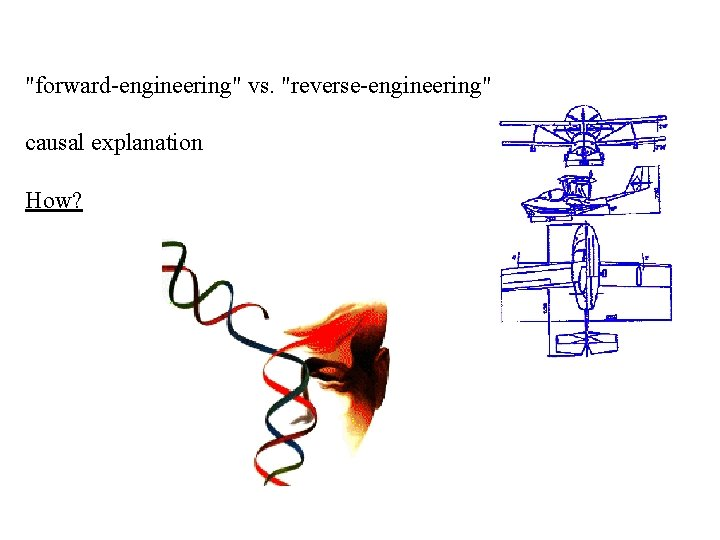 """forward-engineering"" vs. ""reverse-engineering"" causal explanation How?"