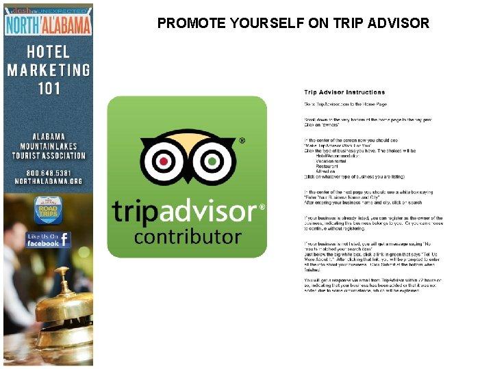 PROMOTE YOURSELF ON TRIP ADVISOR
