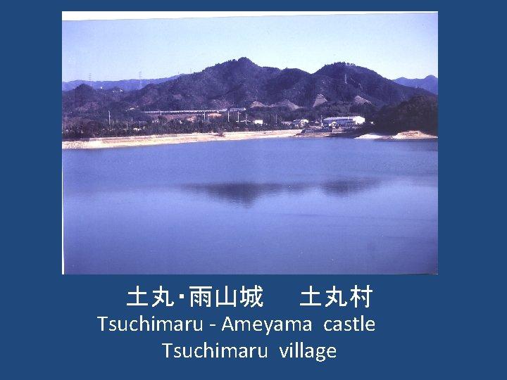 土丸・雨山城  土丸村 Tsuchimaru - Ameyama castle   Tsuchimaru village