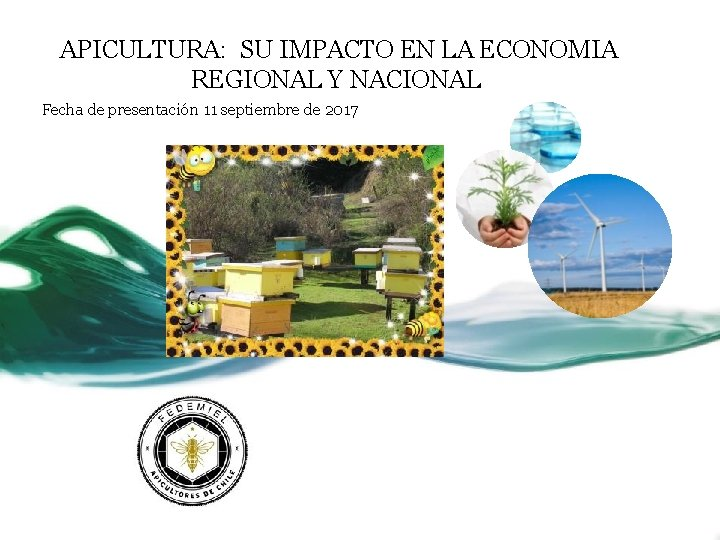 APICULTURA: SU IMPACTO EN LA ECONOMIA REGIONAL Y NACIONAL Fecha de presentación 11 septiembre