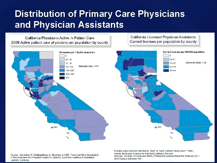 Distribution of Primary Care Physicians and Physician Assistants 16