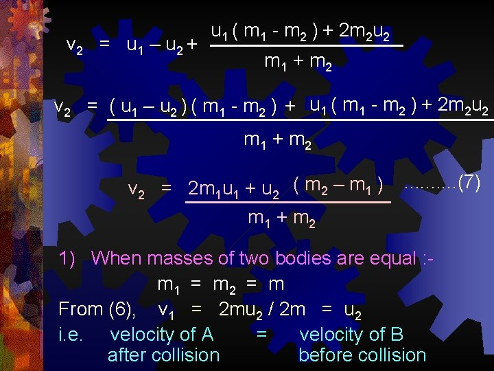 v 2 = u 1 – u 2 + u 1 ( m 1