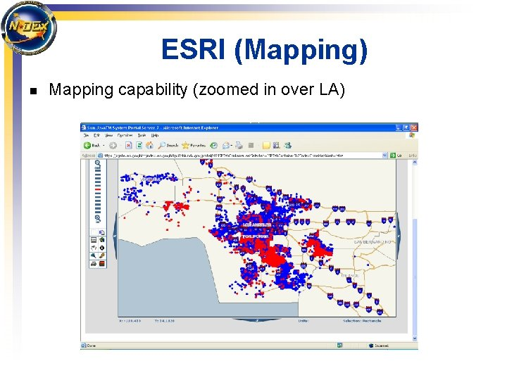 ESRI (Mapping) n Mapping capability (zoomed in over LA)