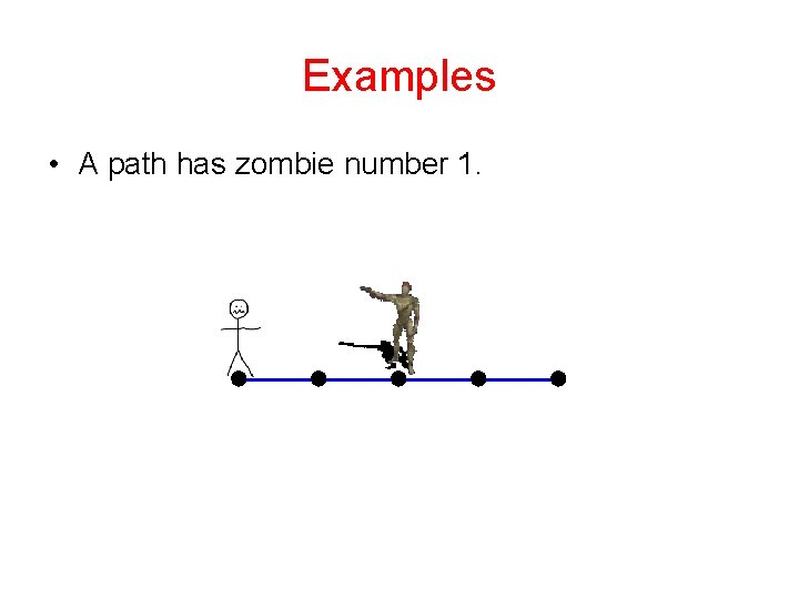 Examples • A path has zombie number 1.