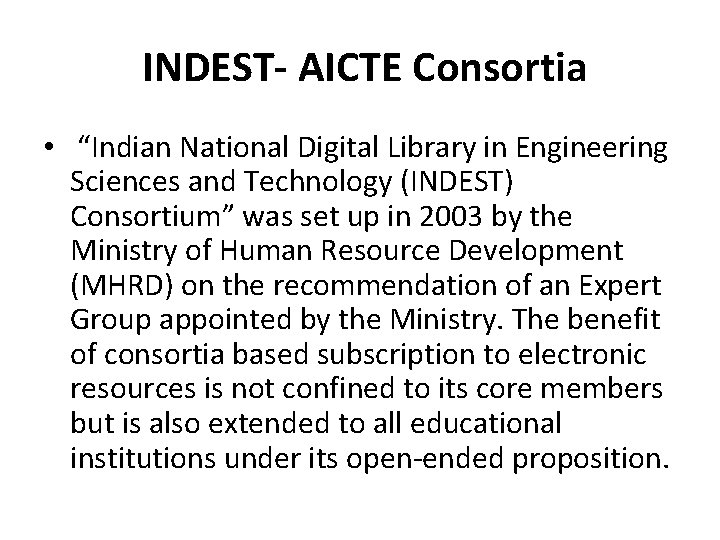 """INDEST- AICTE Consortia • """"Indian National Digital Library in Engineering Sciences and Technology (INDEST)"""