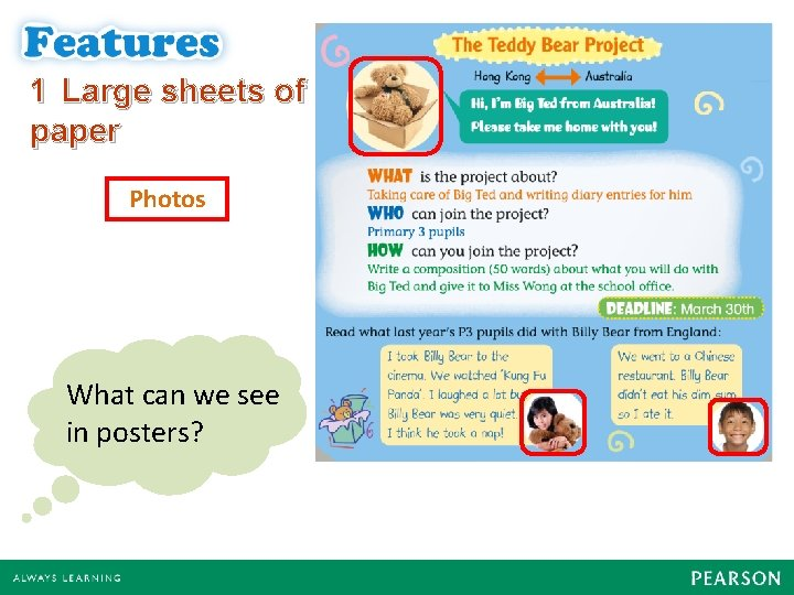 1 Large sheets of paper Photos What can we see in posters?
