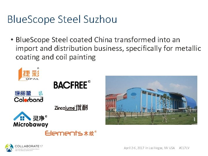 Blue. Scope Steel Suzhou • Blue. Scope Steel coated China transformed into an import