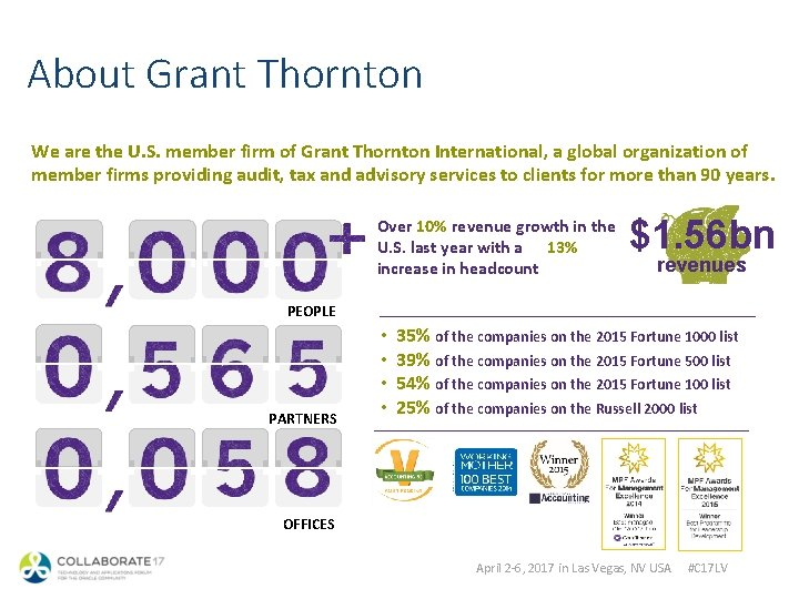 About Grant Thornton We are the U. S. member firm of Grant Thornton International,