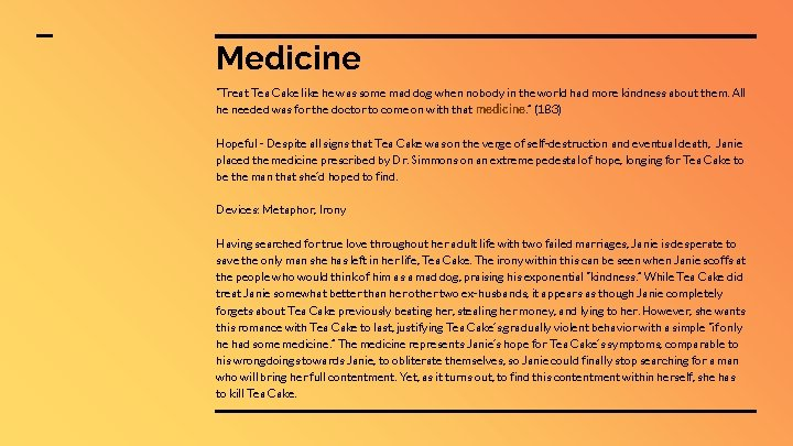 """Medicine """"Treat Tea Cake like he was some mad dog when nobody in the"""