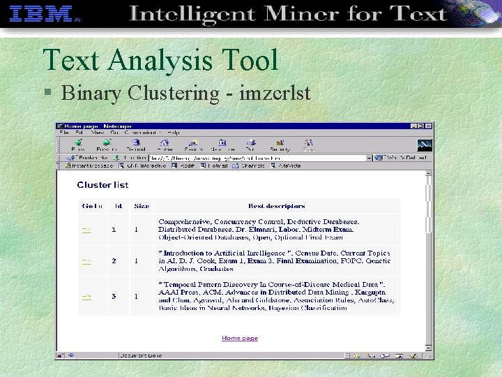 Text Analysis Tool § Binary Clustering - imzcrlst