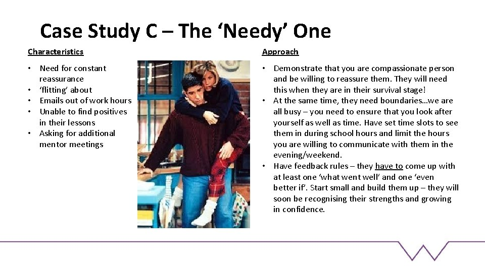 Case Study C – The 'Needy' One Characteristics Approach • Need for constant reassurance