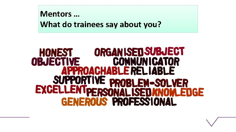 Mentors … What do trainees say about you?