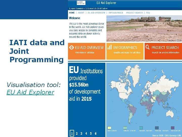 IATI data and Joint Programming Visualisation tool: EU Aid Explorer