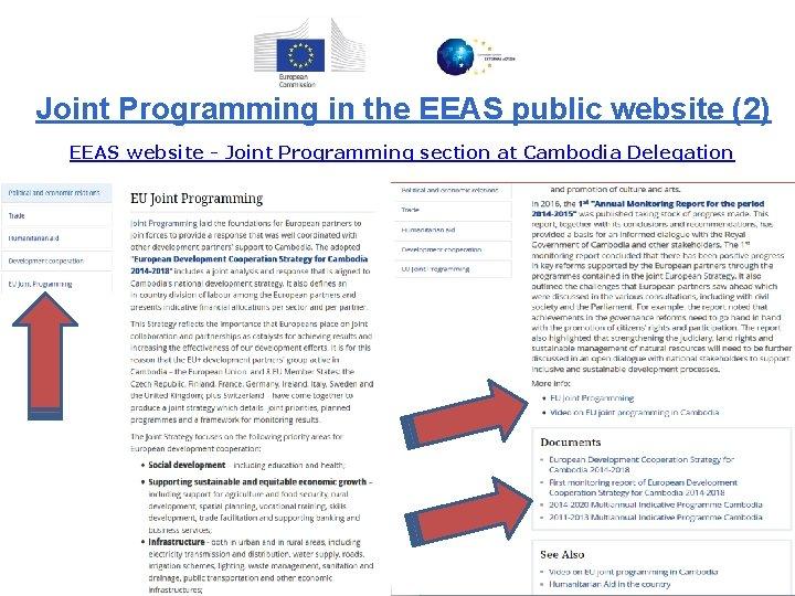 Joint Programming in the EEAS public website (2) EEAS website - Joint Programming section