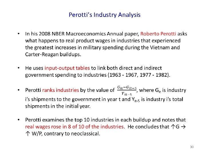Perotti's Industry Analysis 30