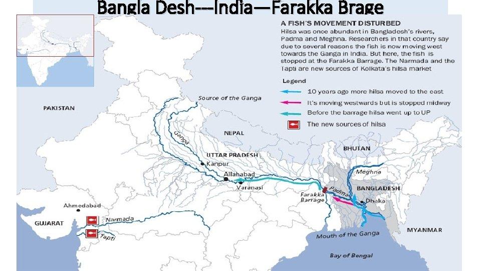 Bangla Desh---India—Farakka Brage
